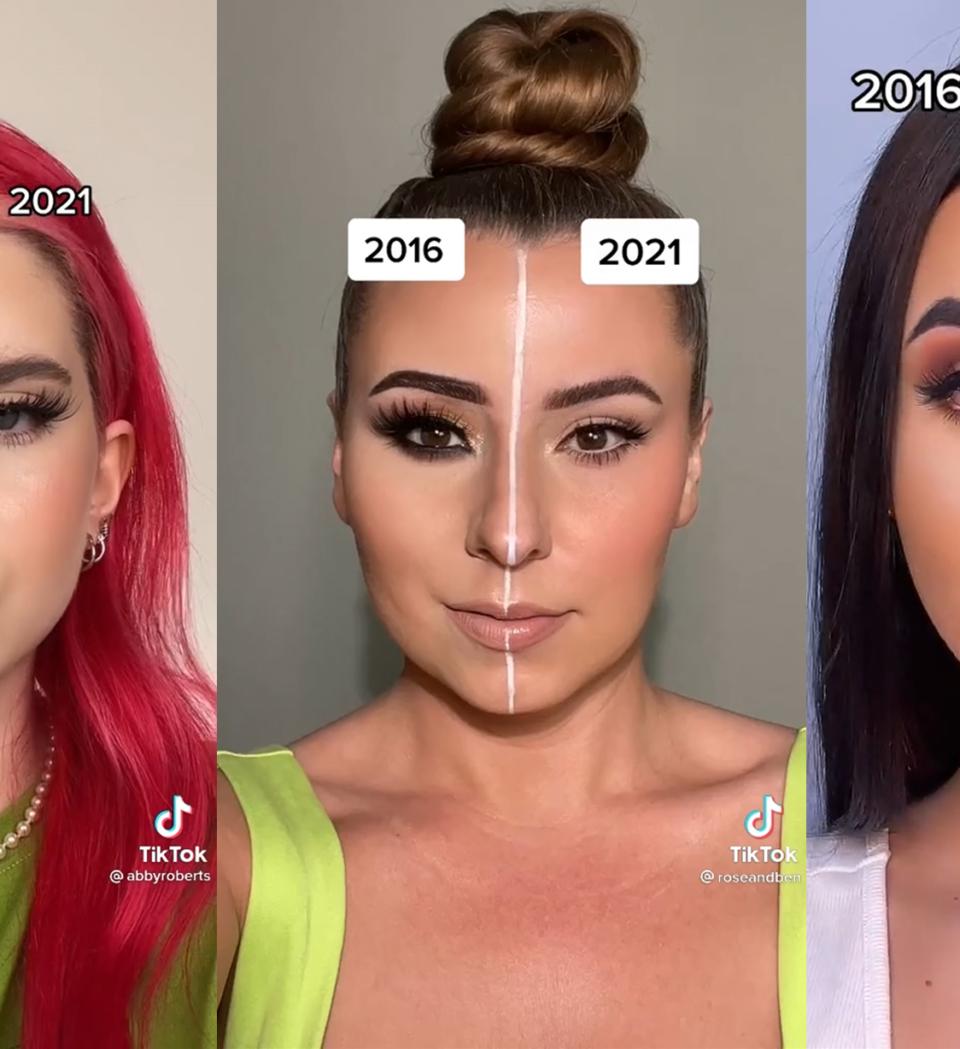 De 2016 vs. 2021 make-up challenge gaat viral op TikTok